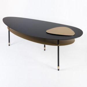 table basse double galet, création mobilier sur-mesure par BEATO DESIGN